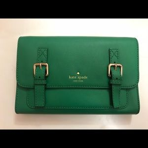 Green Kate Spade crossbody bag *New never used*
